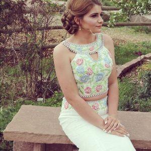 Mon cheri prom dress (white)